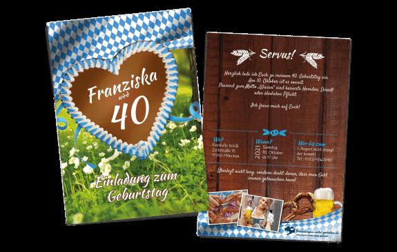 """Einladungskarte Oktoberfest """"Wiesn"""""""