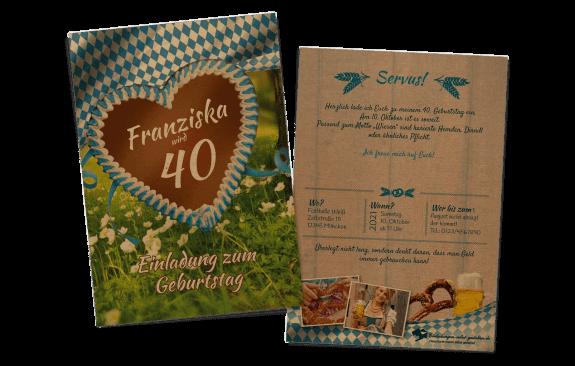 Oktoberfest Kraftpapier Einladung