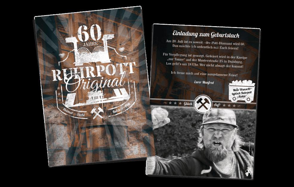 """Ruhrpott-Einladung """"Glück Auf"""""""