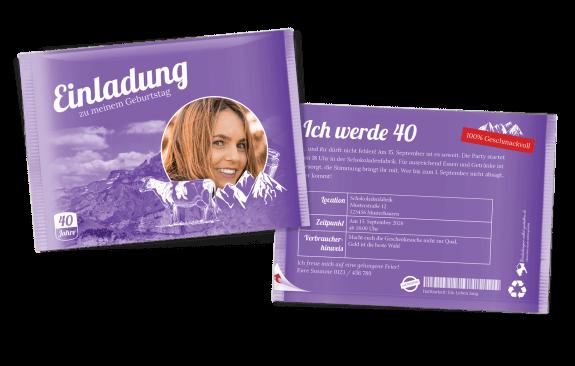 Schokoladige Einladungskarte