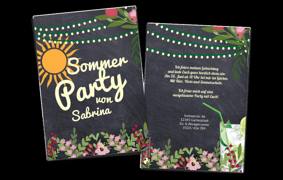 Sommereinladung Gartenparty