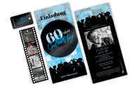 "3-Fach Geburtstagskarte ""70er"""