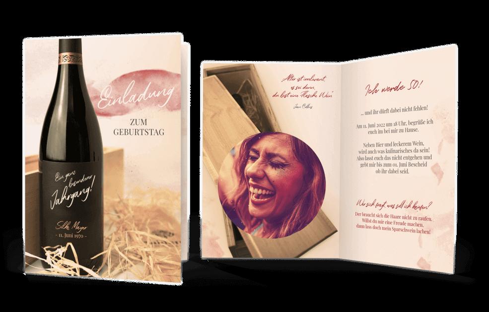 Weinkarte – besonderer Jahrgang