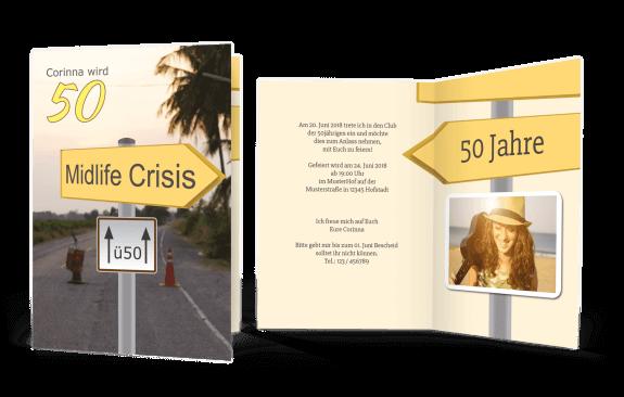 Geburtstagseinladung  Midlife Crisis