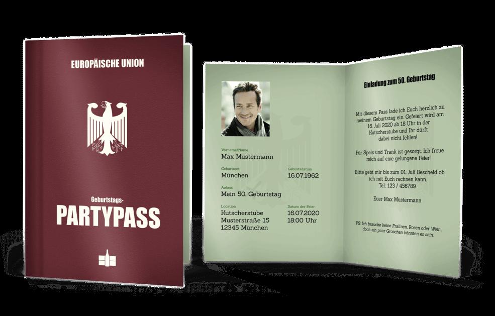 Einladung Reisepass