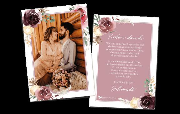 Danksagungskarte Floral Bouquet