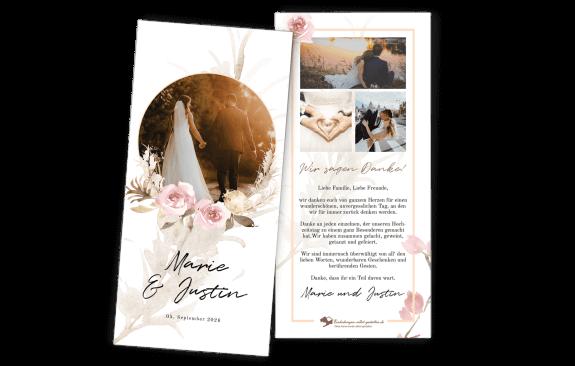 Dankeskarte – Modern Boho