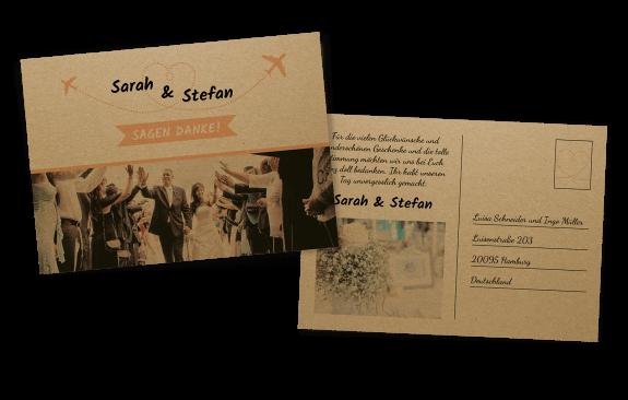 Vintage Postkarte auf Kraftpapier
