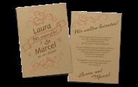 """Festliche Hochzeitseinladung """"Banderole"""" auf Kraftpapier"""