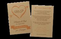 """Einladung auf Kraftpapier """"Amor"""""""