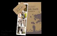 """Einladungskarte auf Kraftpapier """"Lovestory"""""""