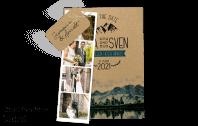 Save the Date Karte Kraftpapier-Berge