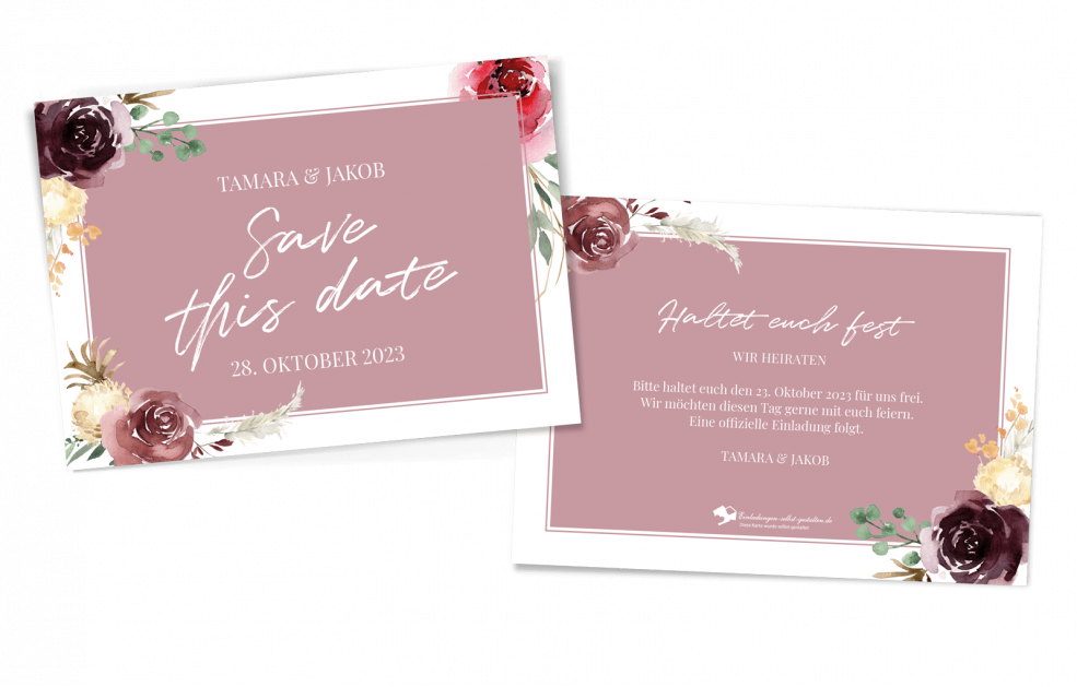 Save-the-Date-Karte Floral Bouquet