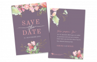 Save-the-Date-Karte Flowers of Love hoch
