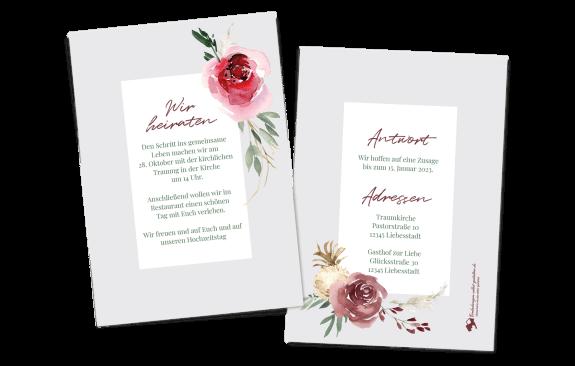 Aquarell-Bouquet Einzelkarte