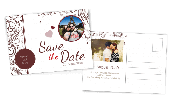 Save the Date Postkarte Edel