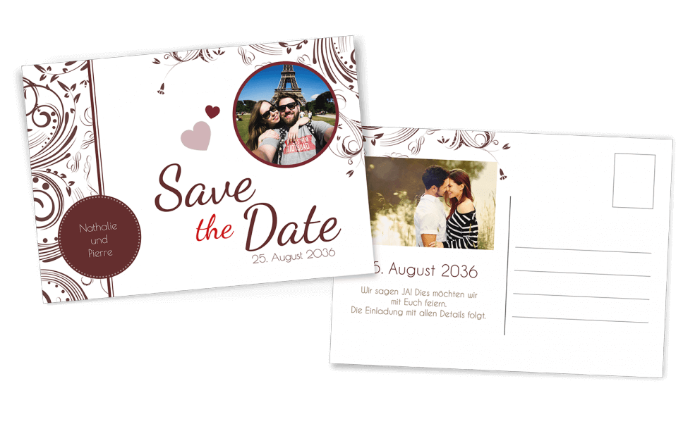 Save the Date Postkarte Edel