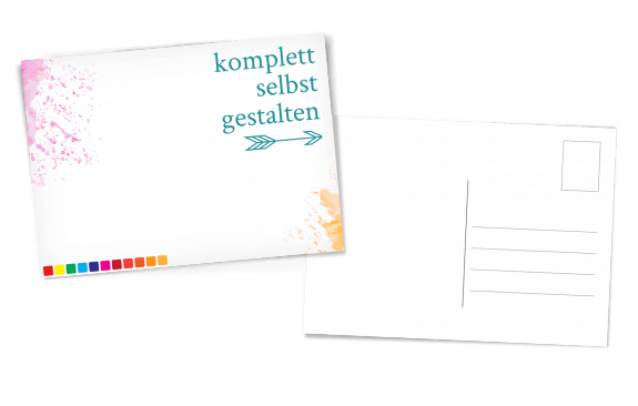 Postkarte selbst gestalten