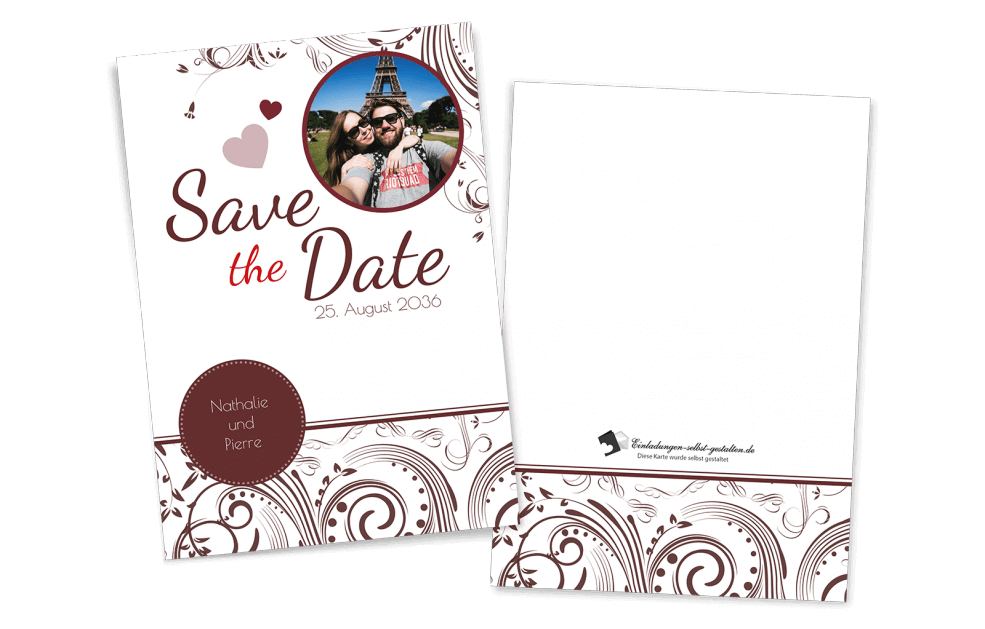 Save the Date Karte - Edel