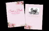 Save the Date Karte Vintage-Blumen