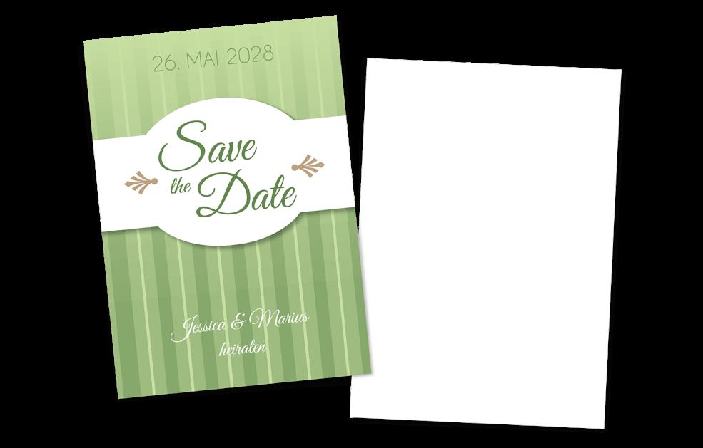Save the Date Karte - Grüntöne