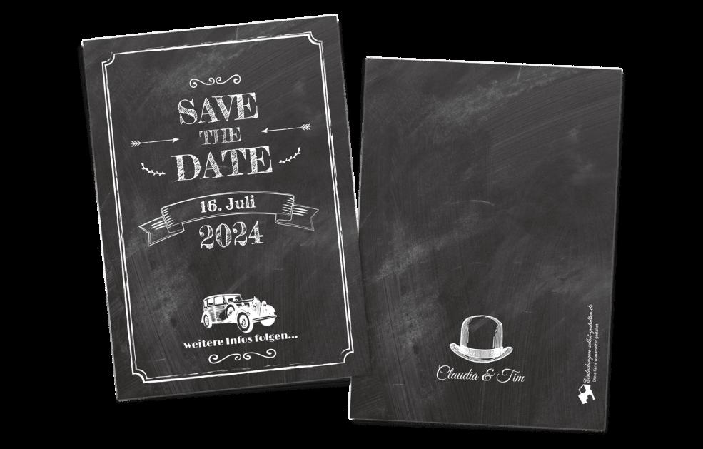 Save the Date Karte - Vintage
