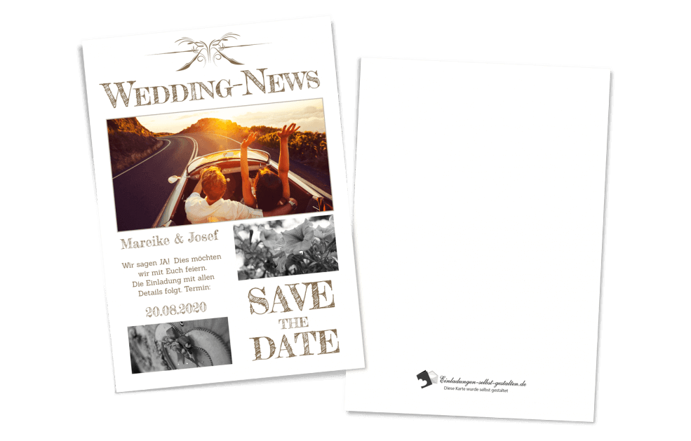 Save the Date Karte - Zeitung