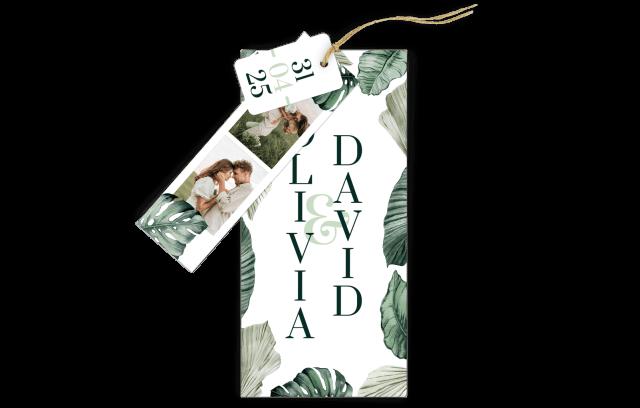 3-Fach-Hochzeitskarte Tropical