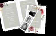 Hochzeitseinladung Floral Bouquet Dia-Set