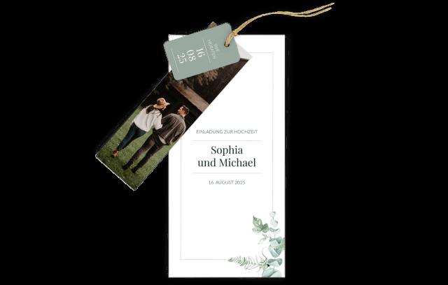 3-Fach-Hochzeitskarte Ivy Greenery