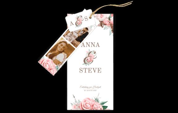 Lovely Pastel Flowers 3-Fach-Hochzeitskarte