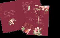 Hochzeitseinladung Flowers of Love Dia-Set
