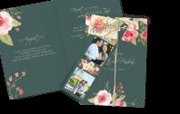 Hochzeitseinladung Pastell-Blumen Dia-Set