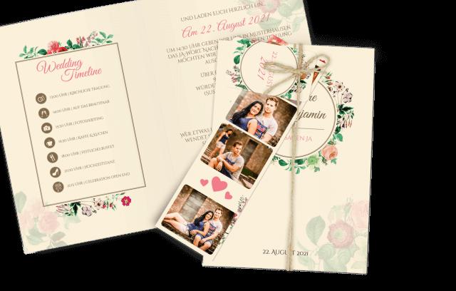 Wedding-Timeline Einladung Dia-Set