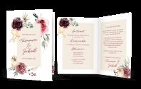 Hochzeitseinladung Floral Bouquet Klappkarte
