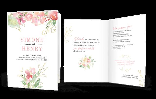Hochzeitseinladung Flowers of Love