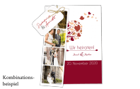 Hochzeitskarte Herzbaum