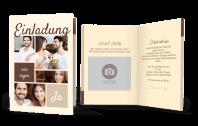 Bildreiche Hochzeitseinladung
