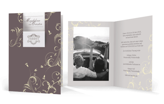 Hochzeitskarte Edle Details