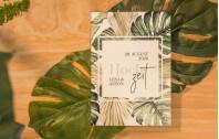 Hochzeitseinladung Klappkarte Hoch Tropical
