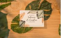 Hochzeitseinladung Klappkarte Quer Tropical Garden