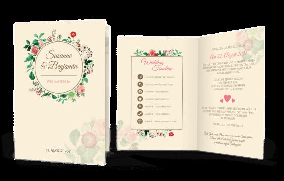 Einladung Wedding-Timeline