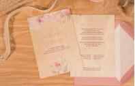 Holzkarte - Flowers of Love