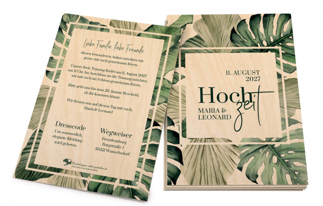 Tropical Holzkarten