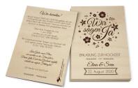 Einladung aus Holz