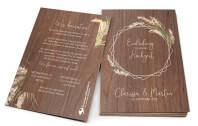 Pampasgras - Holzkarte