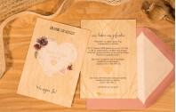Polyherz – Hochzeitskarte Holz