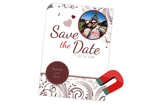 Edel Save the Date Magnetkarte