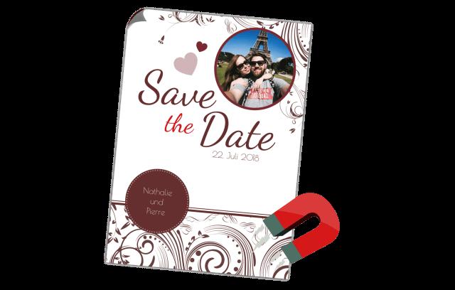 Edel Save the Date Magnetkarte
