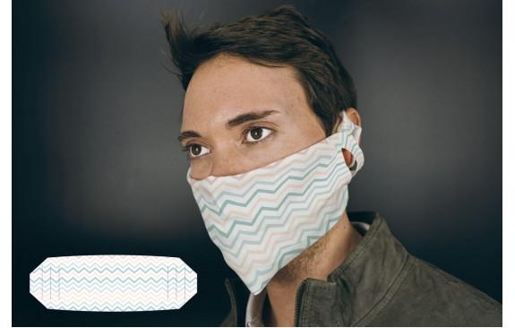 "Mund-Nasen-Maske ""ZickZack"""